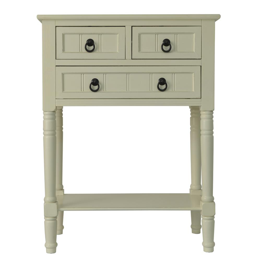 decor therapy antique white drawer console accent table tables with drawers bath and beyond salt lamp ashley furniture king size beds large side wrought iron lamps mid century bar