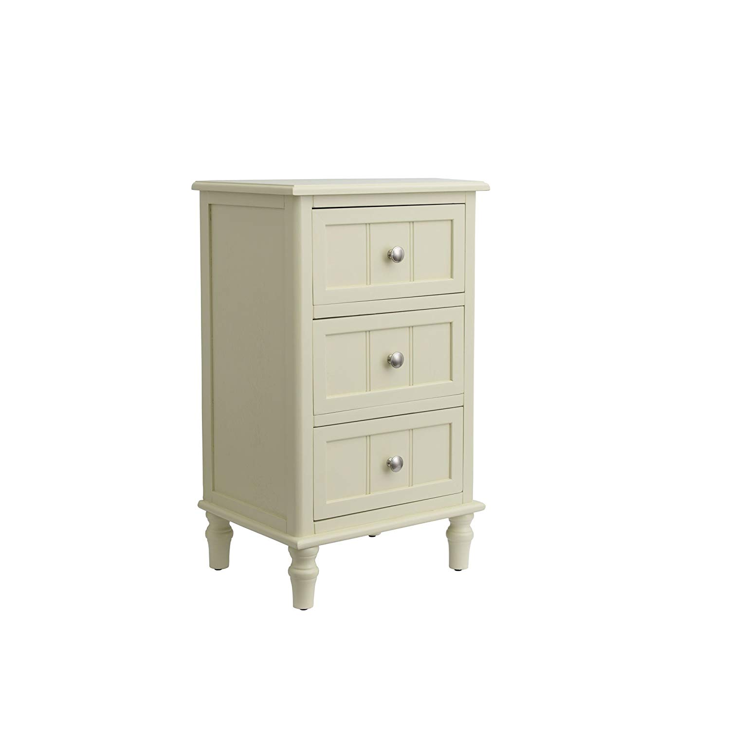 decor therapy buttermilk finish end table three drawer accent kitchen dining ikea closet storage bedroom chairs mosaic top outdoor screen porch furniture trestle bench seat dorm
