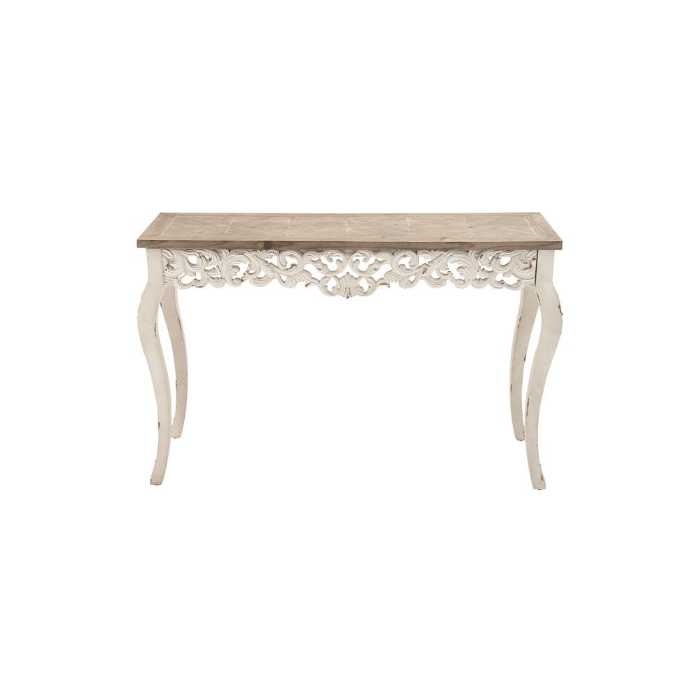 decor therapy furniture the white console tables hooper accent table distressed antique and taupe rectangular parisian inspired huge lamps rattan mats sliding door monarch narrow