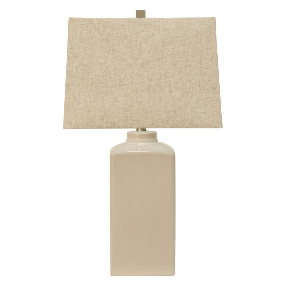 decor therapy kennedy white table lamp with linen shade lamps linon galway accent target vanity uttermost gin cube large grey small metal bath and beyond instant pot room