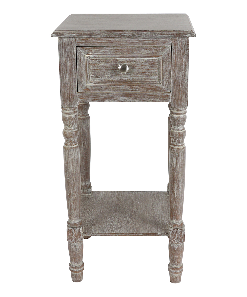 decor therapy natural wood simplify one drawer accent table zulily main all gone coral chair pottery barn black end real tables entryway bench white bedside unit small kitchen