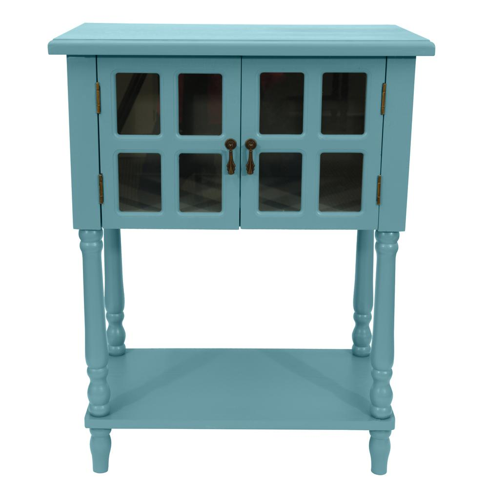 decor therapy nora robins egg blue door accent table the end tables black glass office chair leather drum stool modern console dining clothes bench ashley furniture ott mid