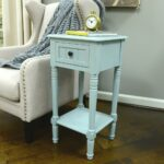decor therapy simplify antique iced blue drawer end table tables accent the espresso wood console furniture inch tablecloth pottery barn bedside pier copper hairpin legs childrens 150x150