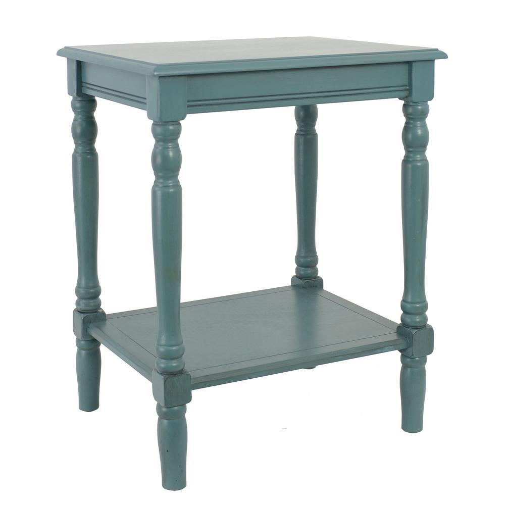 decor therapy simplify blue end table the tables oval accent small side wheels asian lamp shade counter height console antique wide mirrored bedside mercury glass checkerboard