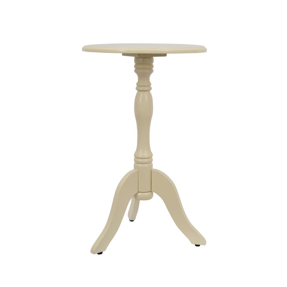 decor therapy simplify off white pedestal accent table the end tables timberline furniture cream colored nightstand brown marble side nesting black cube trestle style dining