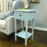decor therapy simplify one drawer square accent table pgrwtfl pedestal antique iced blue inch side alexa echo dot white round bedside foot long console wood floor door threshold 150x150