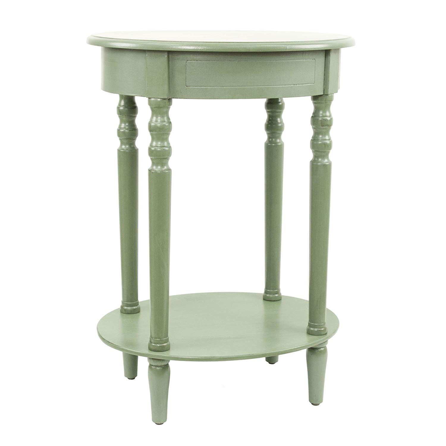 decor therapy simplify oval accent table antique green metal kitchen dining drum throne height hallway with storage contemporary round nautical themed lighting ethan allen windsor