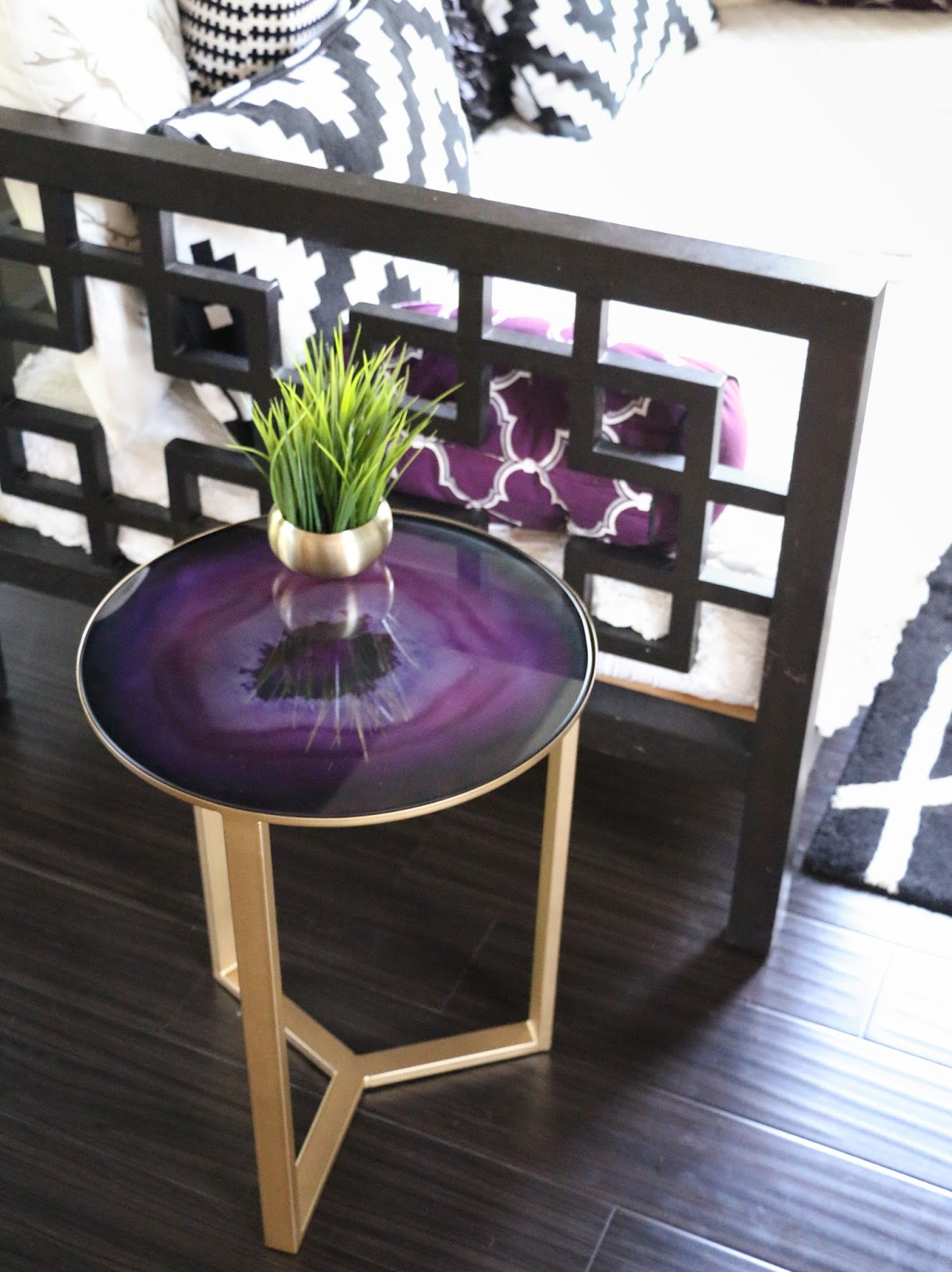 decorate collection side tables kailo chic life agate table glass accent purchased this fun and gold world market for originally still completely infatuated with mineral home