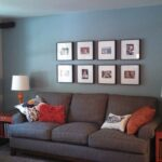 decorating ideas for living rooms accent wall fresh gray room blue sofa orange tables small rustic pedestal table pier decor clearance white patio side cordless lamps pottery barn 150x150