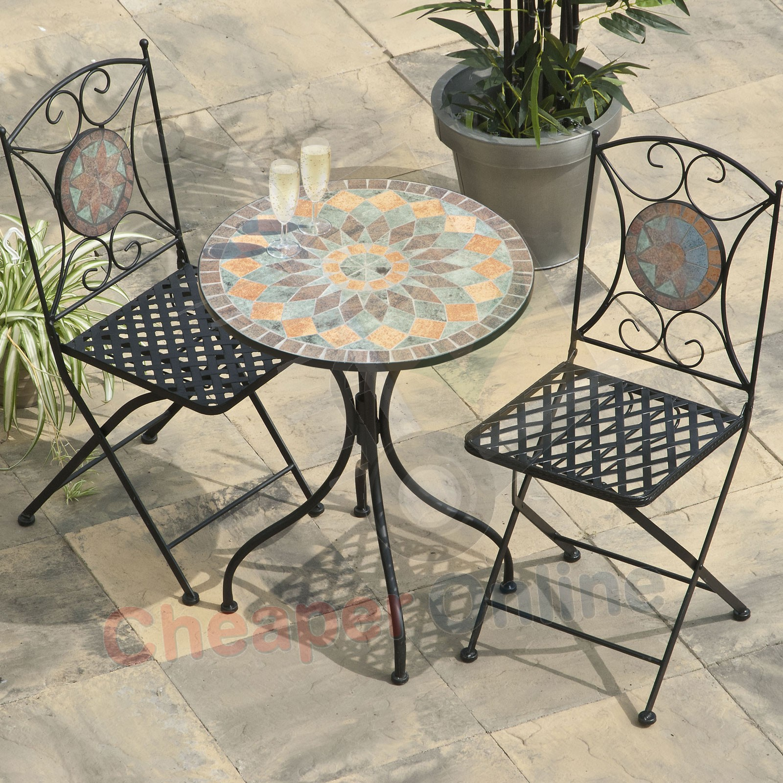 decorating mosaic table art bistro ceramic tile mosaictable set outdoor side how accent indoor full size silver wood coffee standard height square patio cover white glass cabinet