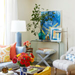 decorating with yellow better homes gardens living room table assorted art accent snack glass top and colorful decor vitra eames chair replica small armchair next slim telephone 150x150