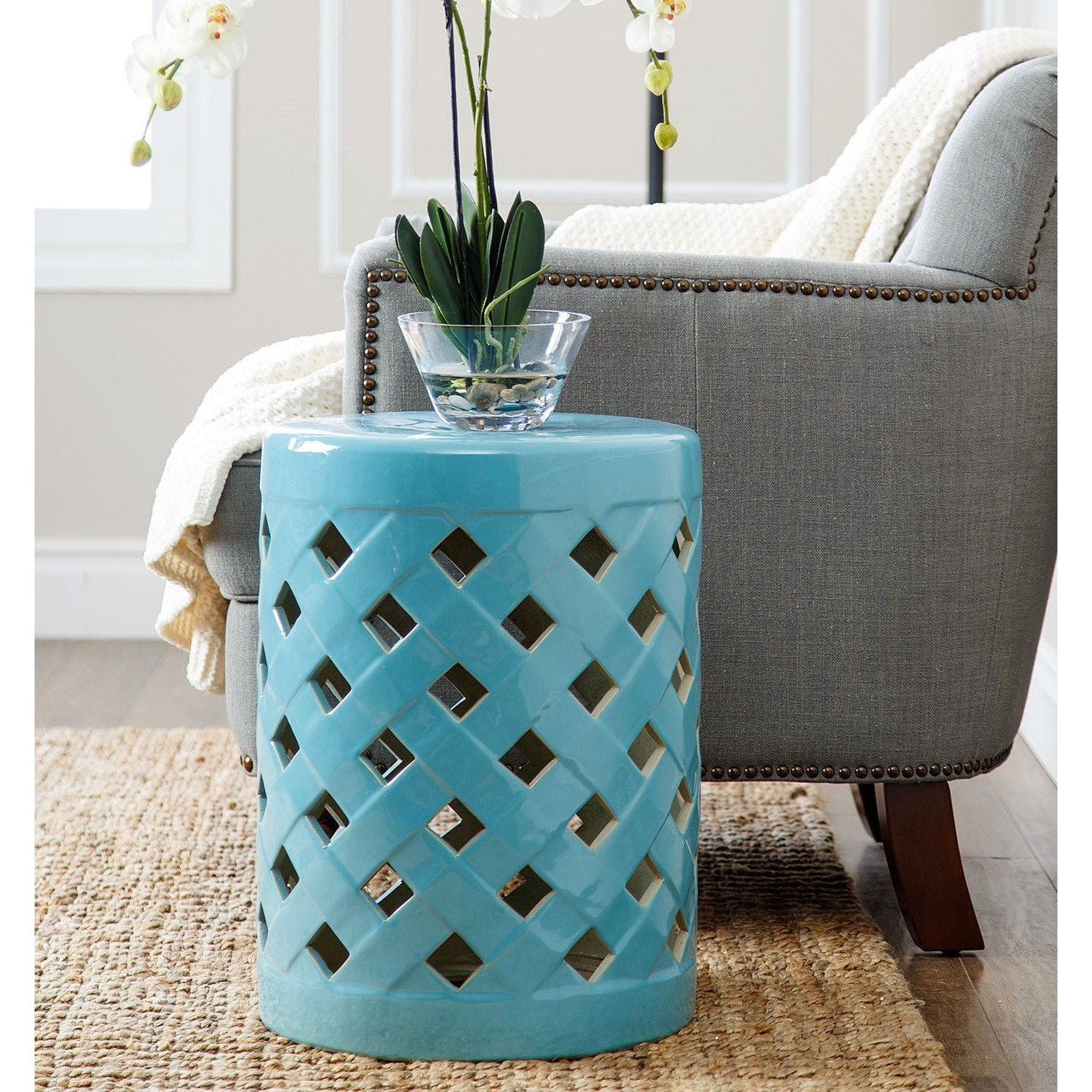 decoration ceramic garden stool chinese drum side table metal unusual flower vases blue rug for living room ideas cream pier one accent ashley furniture chaise dale tiffany amber
