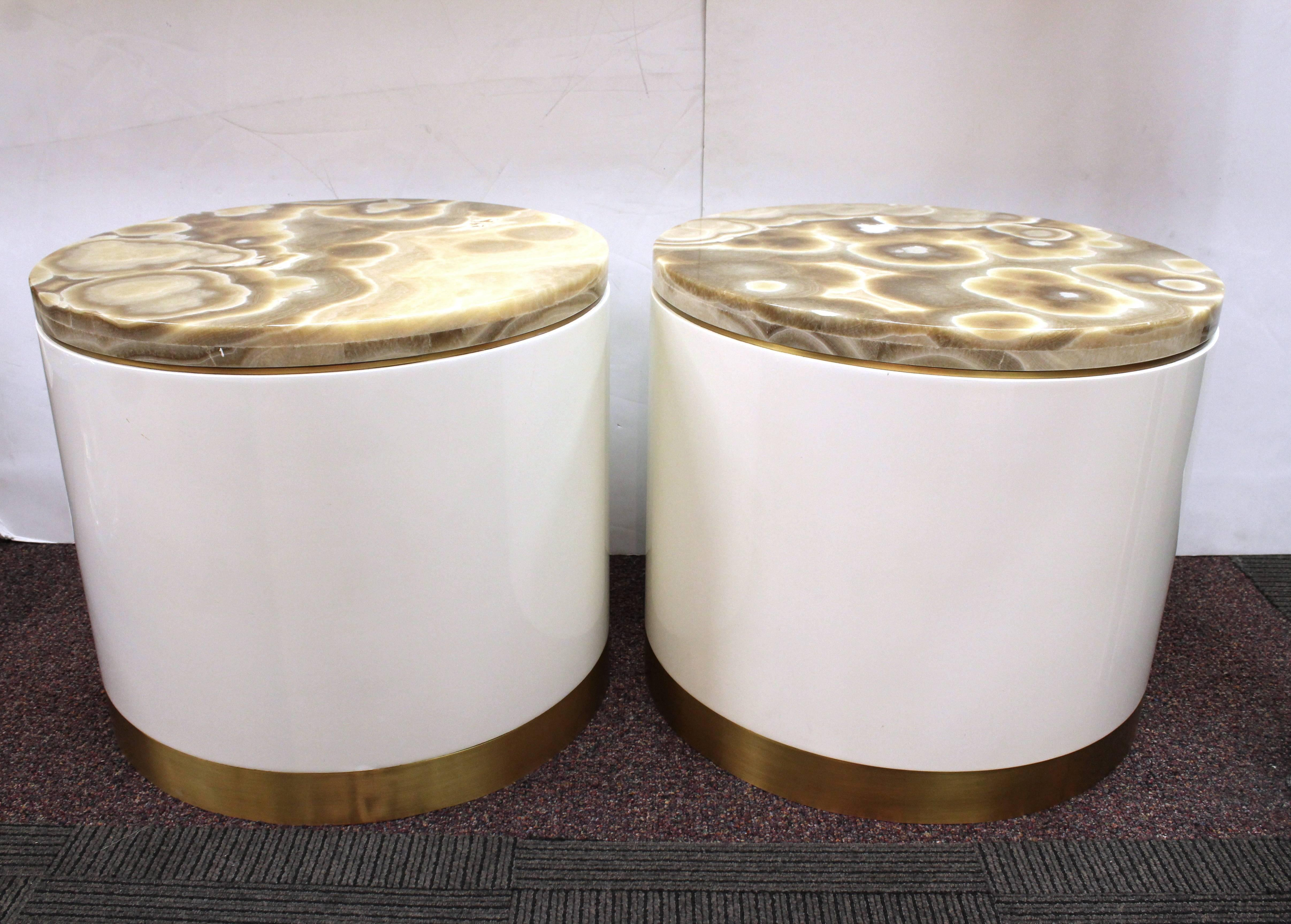 decoration metal drum accent table pair mid century modern white tables with circular marble tops side round top coffee target nate berkus rug lamps contemporary design red patio