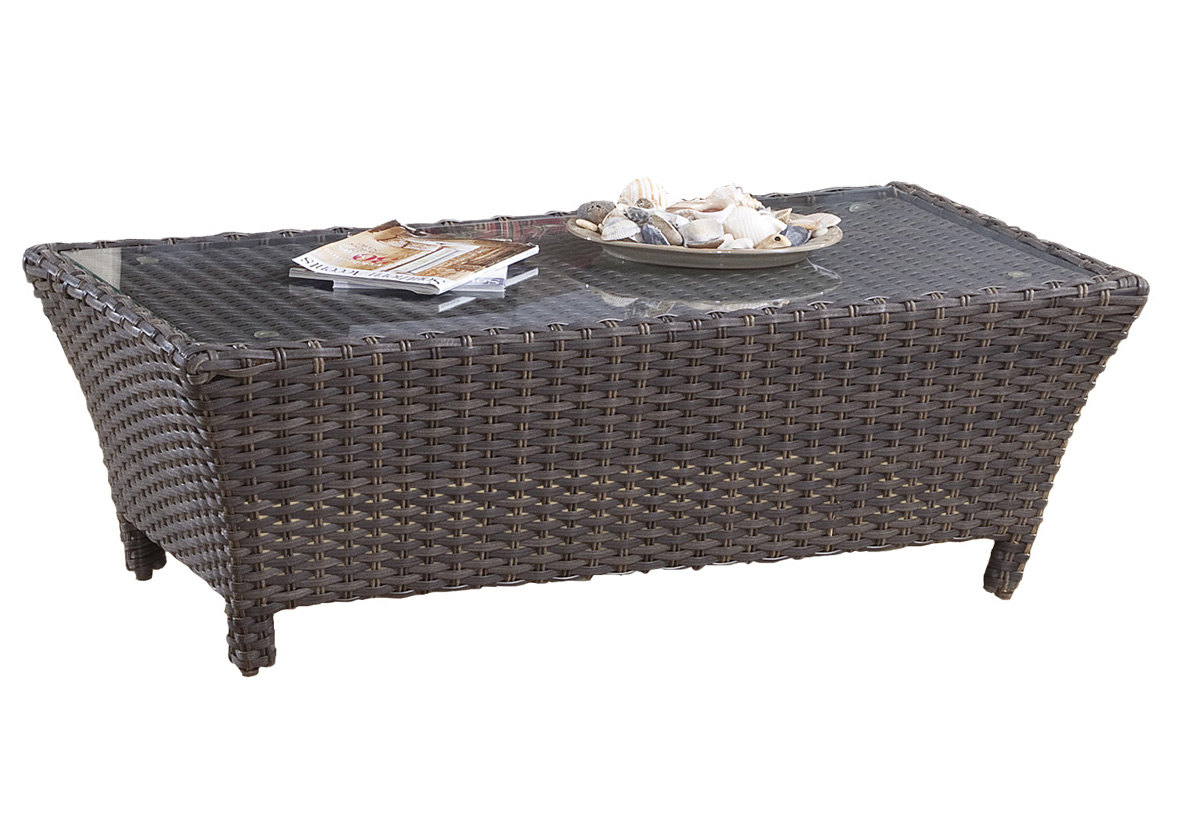 decoration resin wicker coffee table round outdoor rattan ott side indoor full size laminated cotton tablecloth silver armless living room chairs cover ethan end real marble set