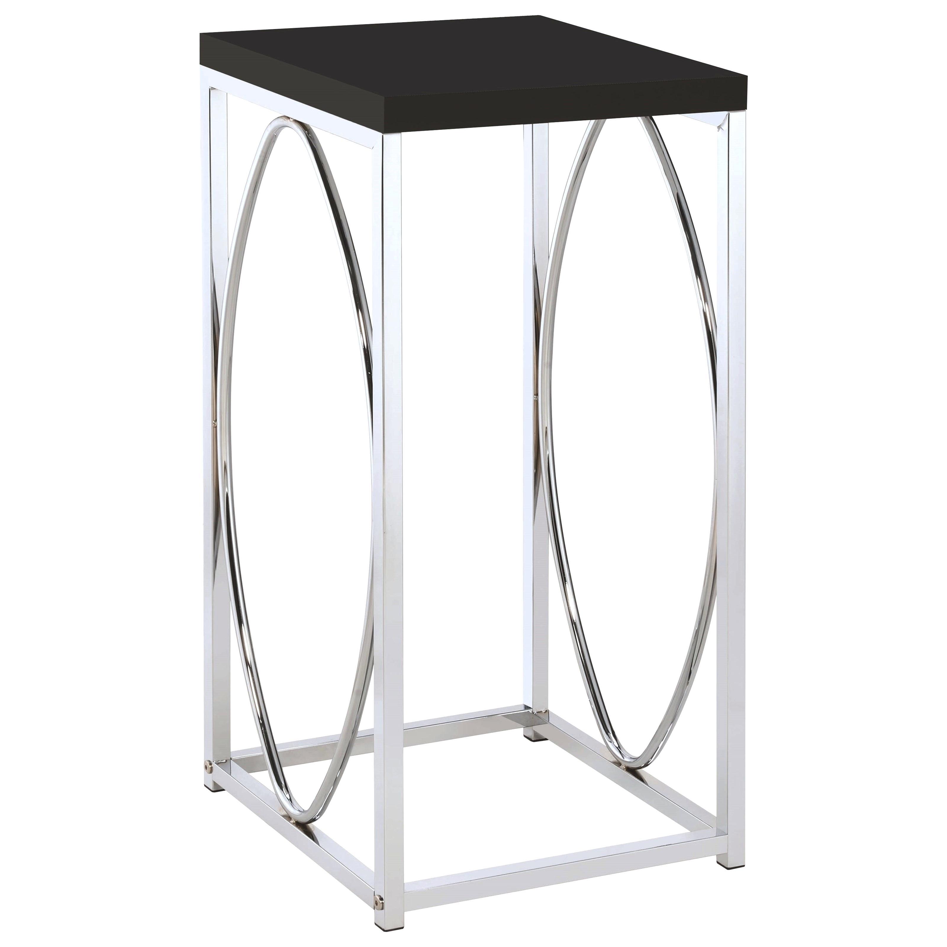 decoration unique accent tables high end couture line collection coaster contemporary table with black top fine furniture avani mango wood drum astoria patio set small plastic