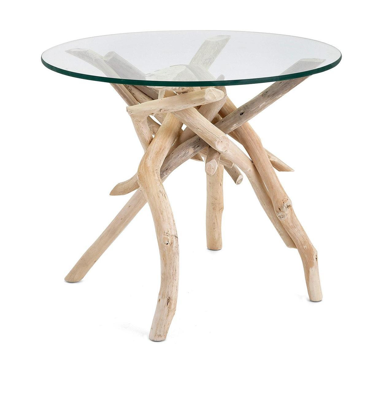 decorative driftwood legs with glass top accent table wood antique oak small ikea narrow end gold tablecloth red lamp parasol stand covers for outdoor tables rustic gray counter