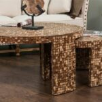 decorative durham modern brown round accent nesting table hot cupboards bar style easter runner quilt patterns pearl drum throne with backrest iron and chairs sectional ott long 150x150