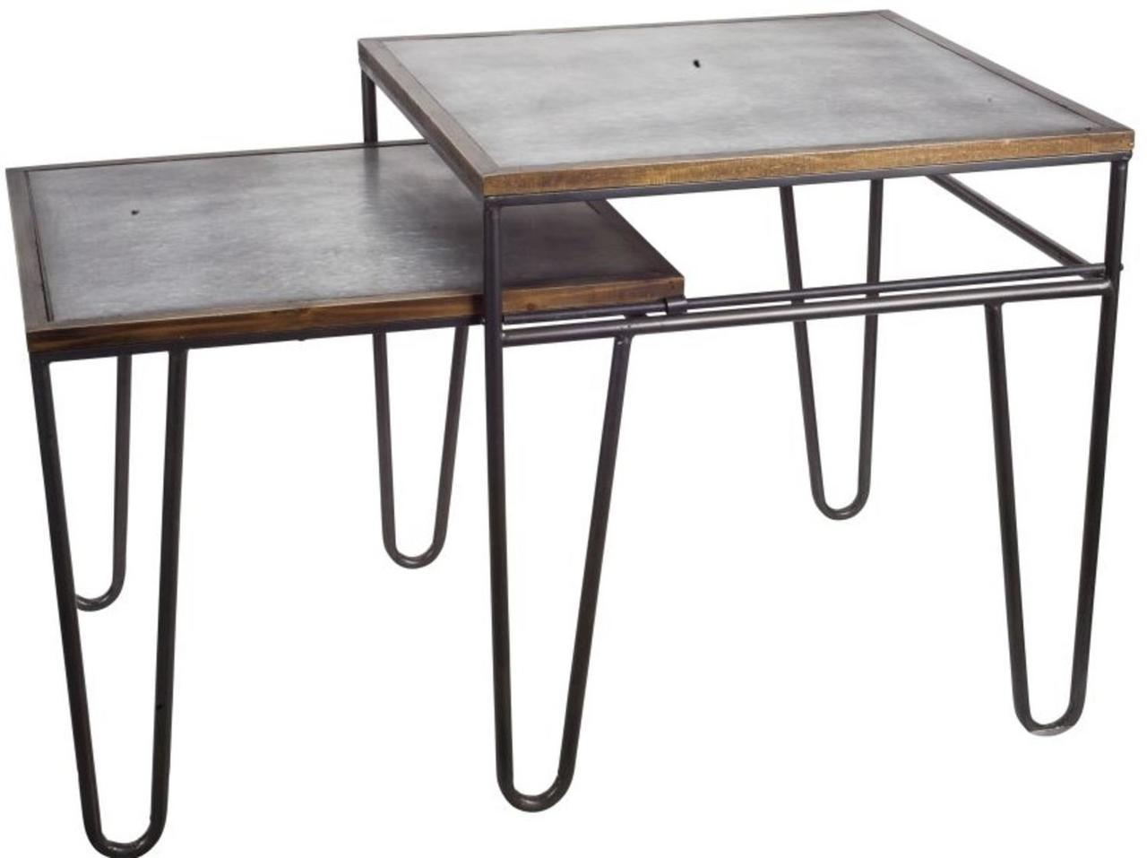 decorative metal creative square tier pull out accent table tiered black wrought iron patio end chest antique long ashley furniture wesling coffee plant stand vintage scandinavian