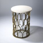 decorative side table web value distressed round accent fish scale gold leaf finish and marble top wood threshold transition old glass bedside tile patio outdoor furniture mission 150x150