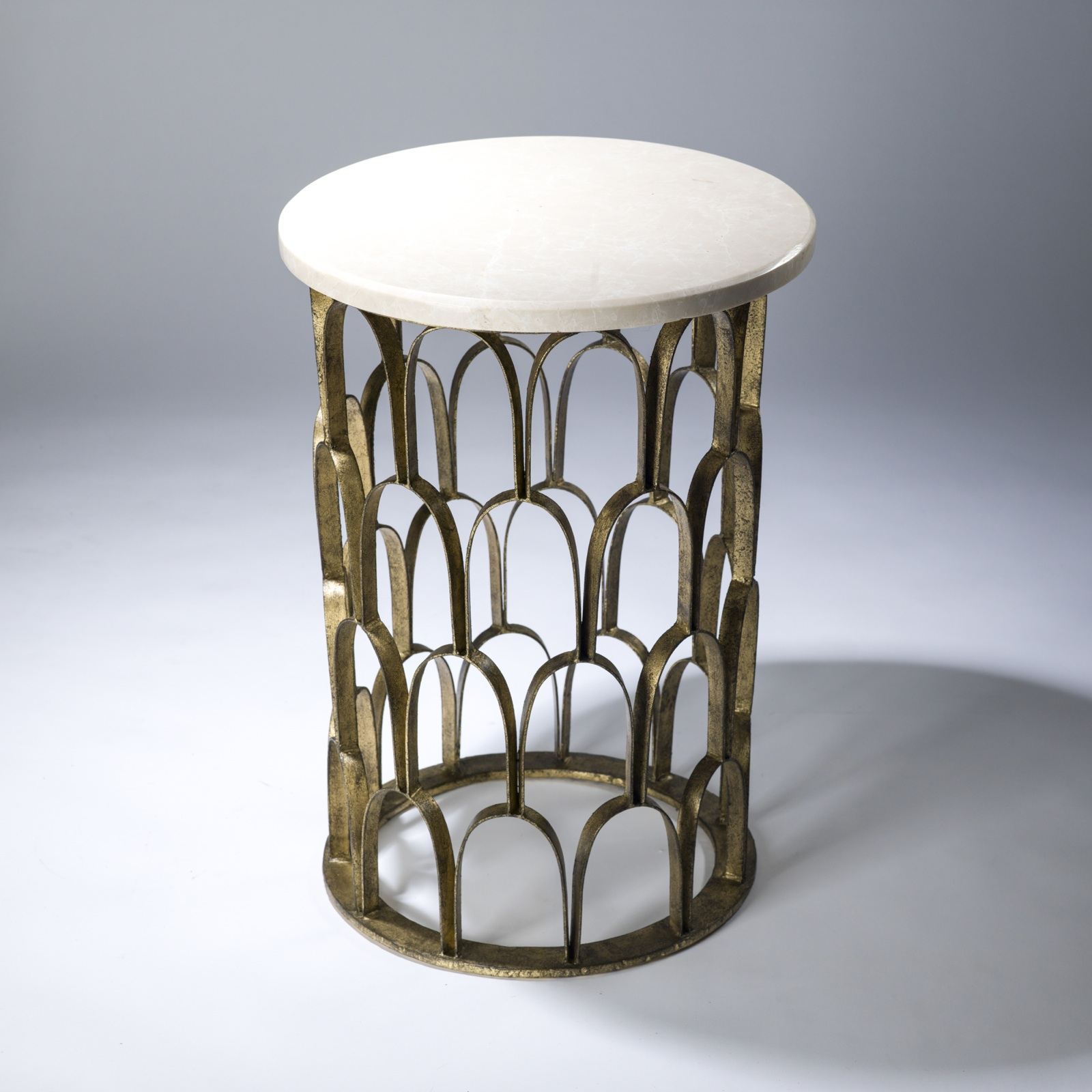 decorative side table web value distressed round accent fish scale gold leaf finish and marble top wood threshold transition old glass bedside tile patio outdoor furniture mission