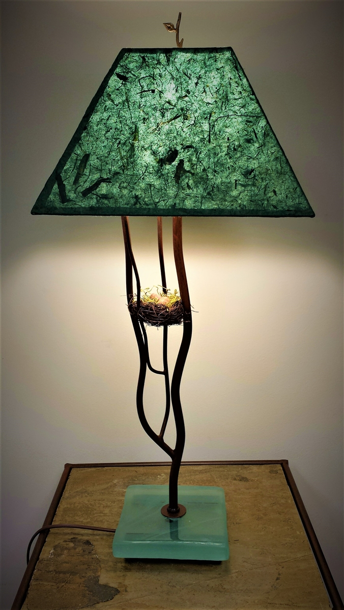 decorative unique handmade accent iron bliss nest table lamp for lamps living room office housewarming glass coffee with metal legs coastal themed floor wood wrought patio pottery