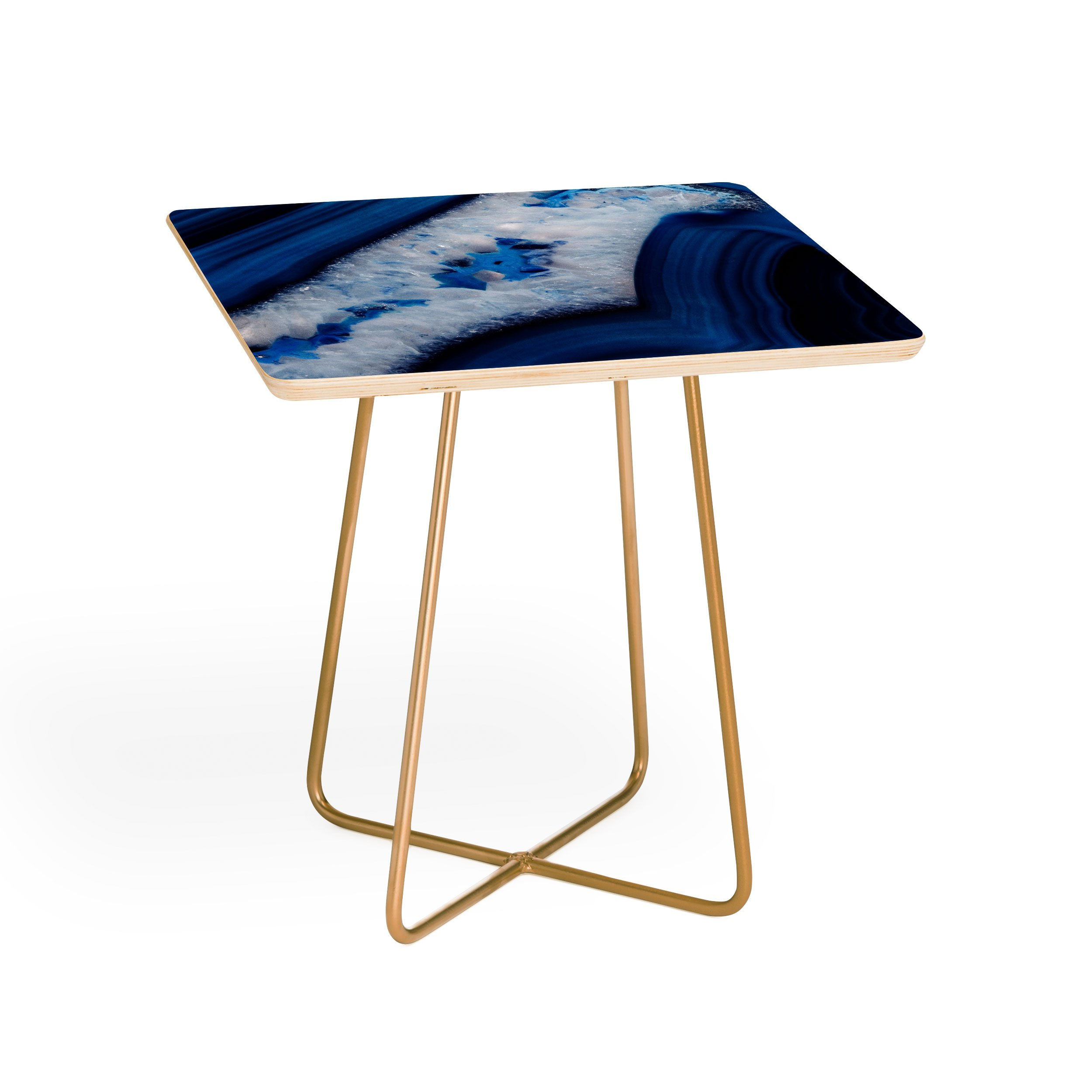 deep blue agate side table emanuela carratoni square white background aston gold accent farm style end tables glass nest martin home office furniture affordable leather sofa barn