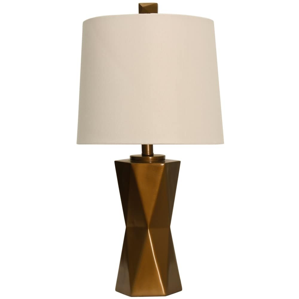 delacora mila tall accent table lamp with hardback fabric shade square copper free shipping today safavieh gold end cement outdoor high top and bar stools small chest cabinet barn
