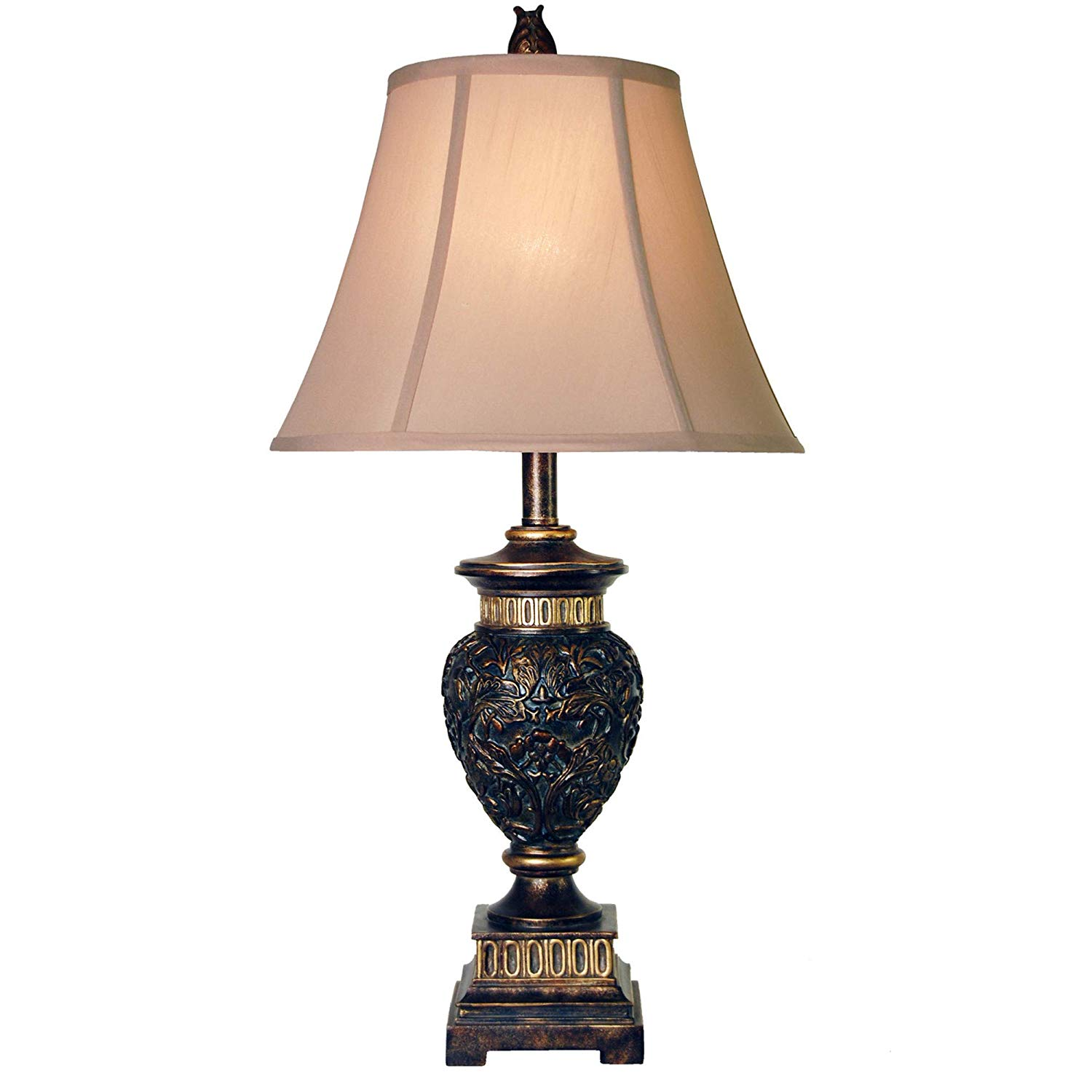 delacora passo ambrose tall accent table lamp with fabric shade round sofa silver crystal elm chair bar top tables reclining gray wash coffee low marble liquor storage cabinet