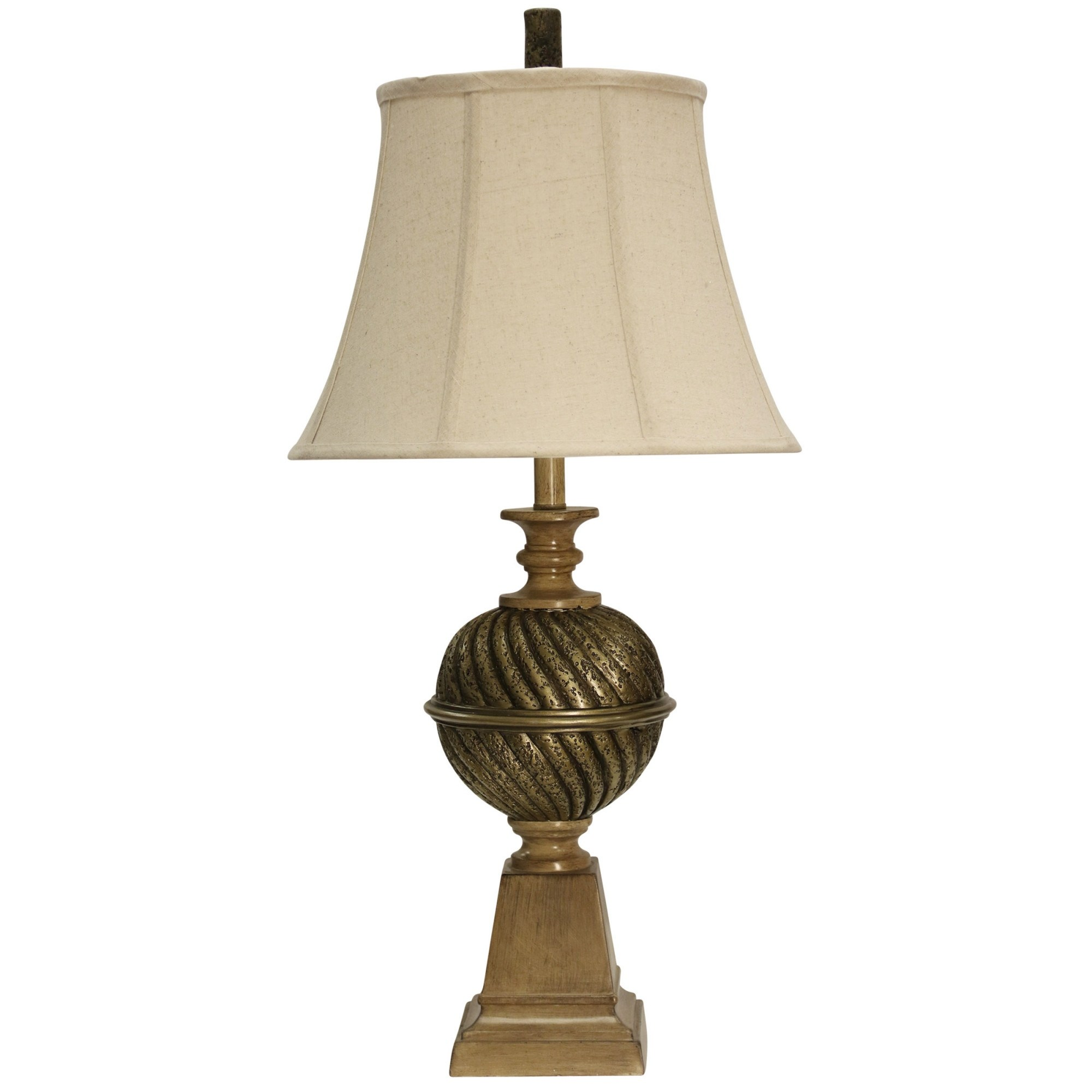 delacora tall accent table lamp with softback fabric shade lamps mumbai gold free shipping today old wooden light grey end tables sage paint dining behind couch yellow home decor