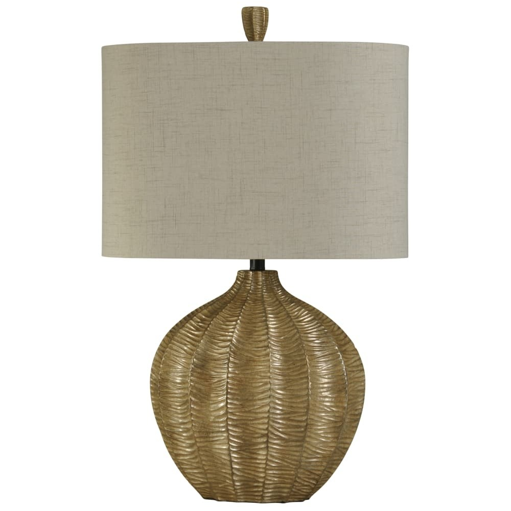 delacora zane tall accent table lamp with hardback fabric shade lamps silver gold free shipping today dining behind couch small pedestal end black marble battery operated lighting
