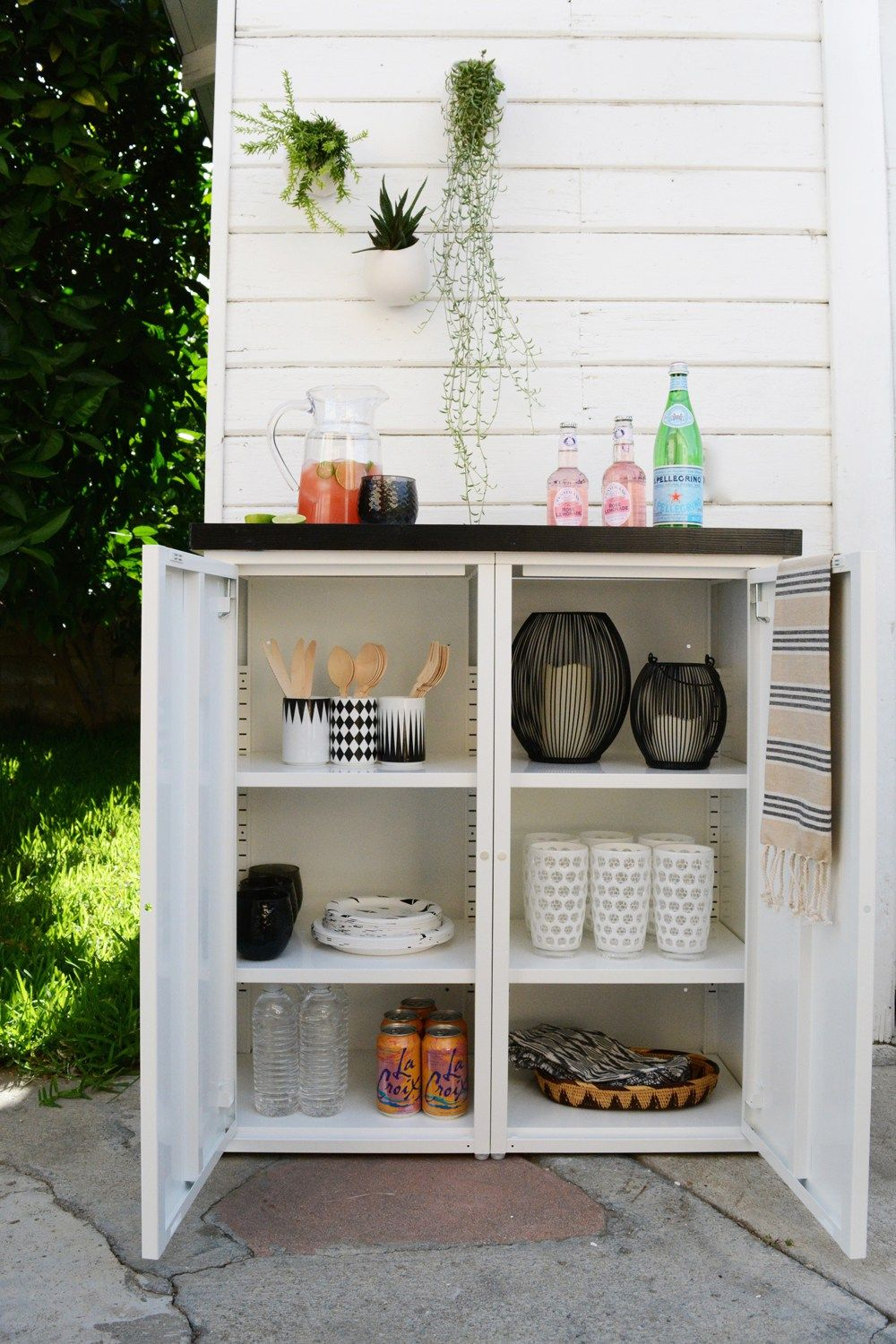 delectable outdoor sideboards and buffets solid wood cabinet metall white alfresco metal reclaimed walnut plans aluminum burl dark table home woodworking patio teak console