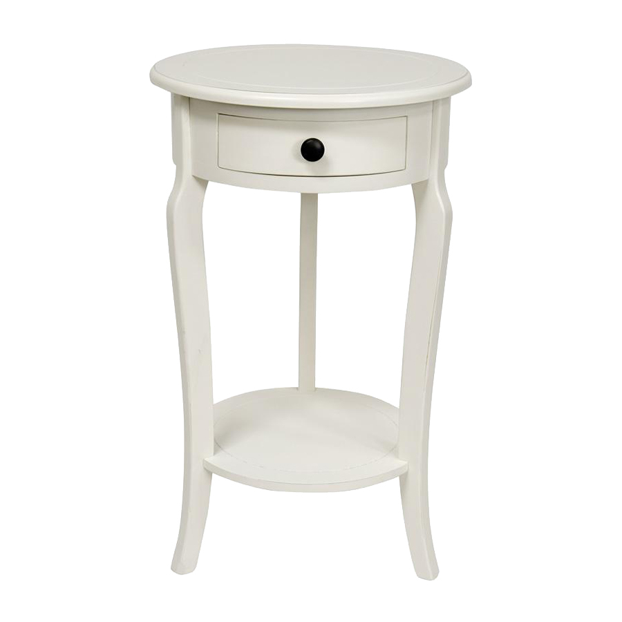 delightful white round end table wood construction three tapered classic one drawer storage bottom shelf square cut cabriole legs safavieh janika accent off full size tables grill