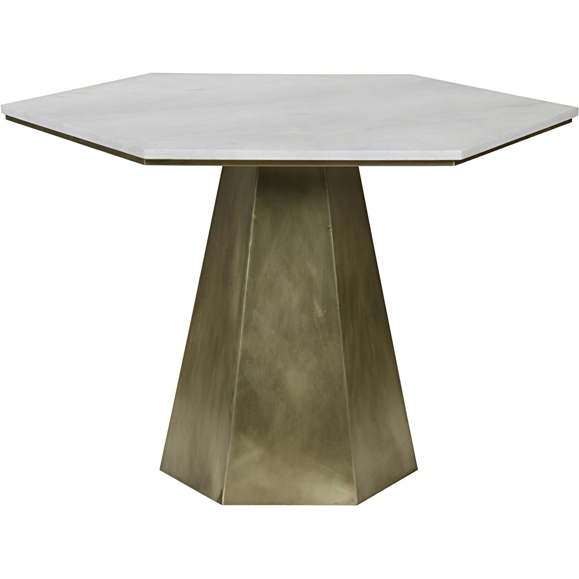 demetria table metal and quartz bliss home design boir antique brass accent with base finished topped white hexagon marble top occasional tables silver bedside lamps grey end