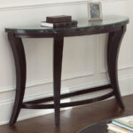 demilune half moon console table glass top small accent gallerie couch oval and metal coffee black dale tiffany aldridge lamp wicker garden chairs ethan allen furniture brown 150x150