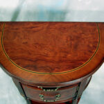 demilune half round accent end table burl ash mahogany display vintage ikea file box room small corner cool tables slim lamp battery operated with timer cream grey placemats bath 150x150