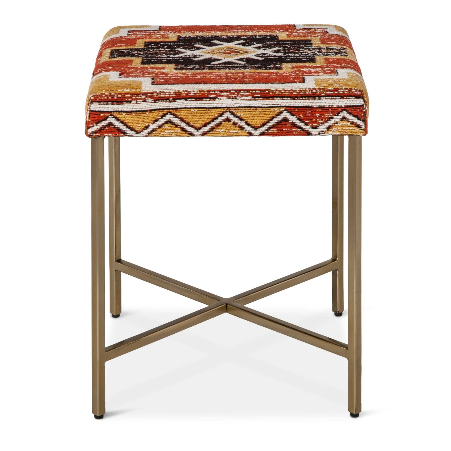 dependable seat most anywhere with the threshold square accent parquet table stool orange yellow bent acrylic coffee furniture for home pottery barn frog drum pork pie throne