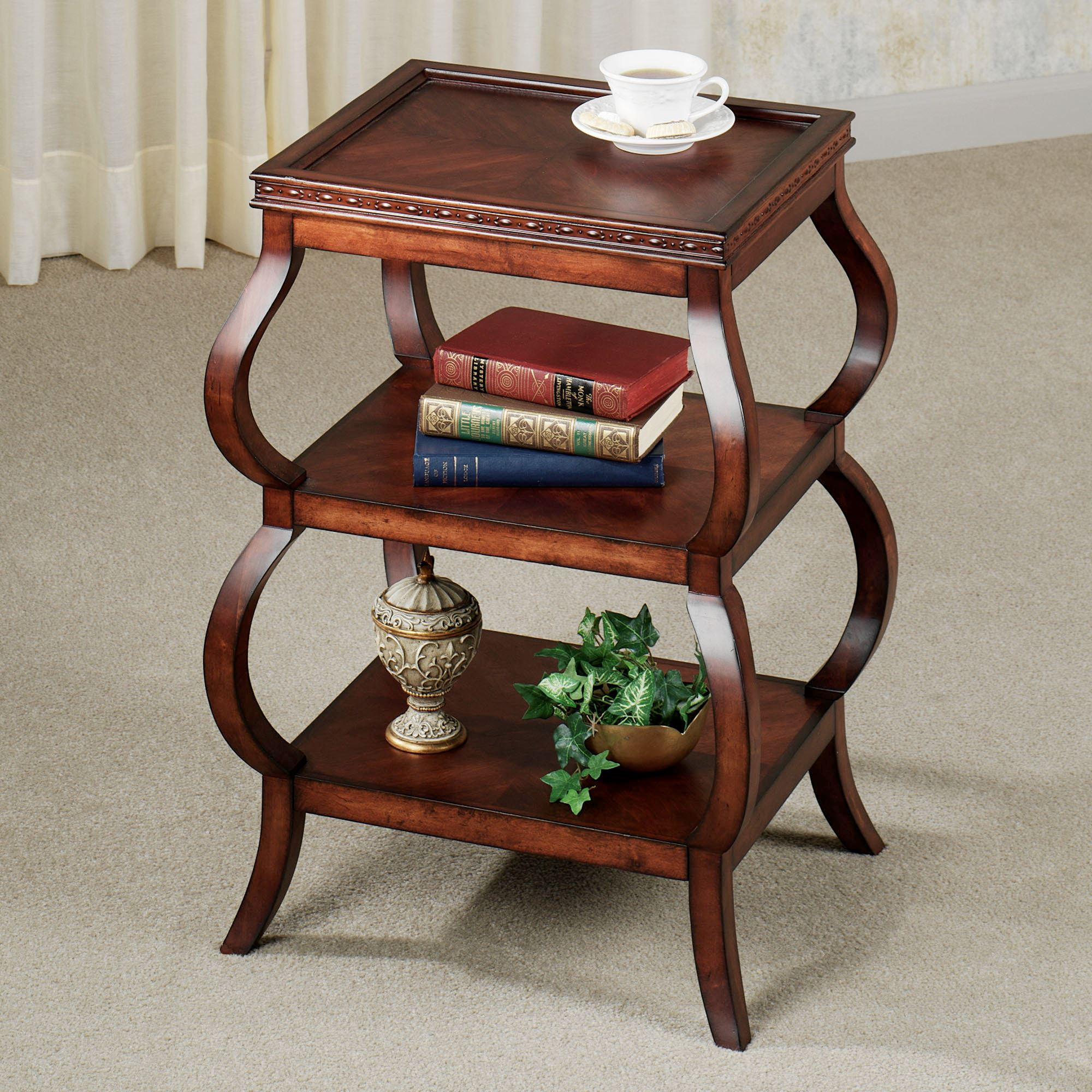 design cherry accent table with tables touch class attractive kirklands end stand living room coffee decor home goods dining modern and chairs meyda tiffany great round bar stools