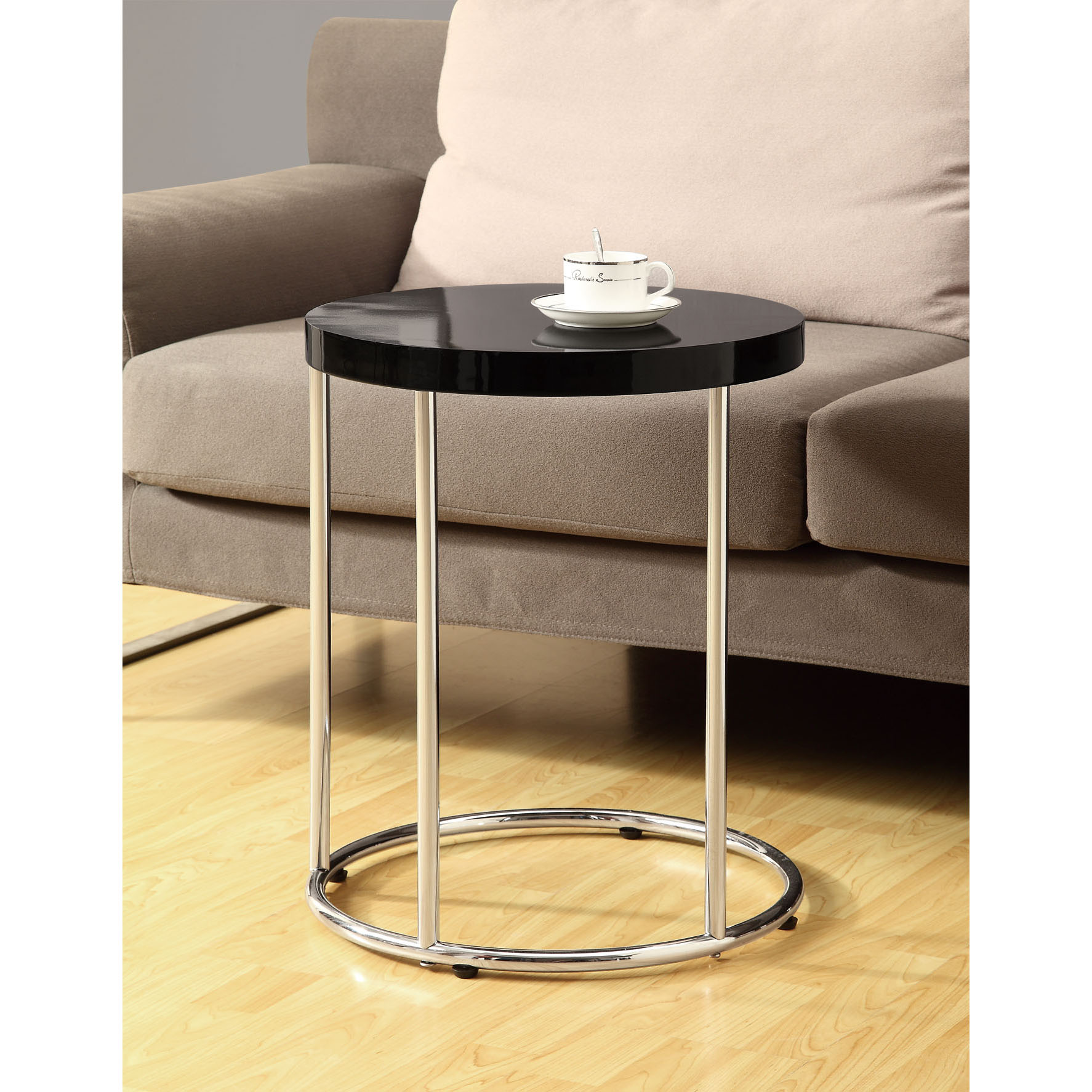design metal accent table with cabinets contemporary elegant glossy black chrome free shipping today drum lucite waterfall coffee height console behind sofa home decor counter