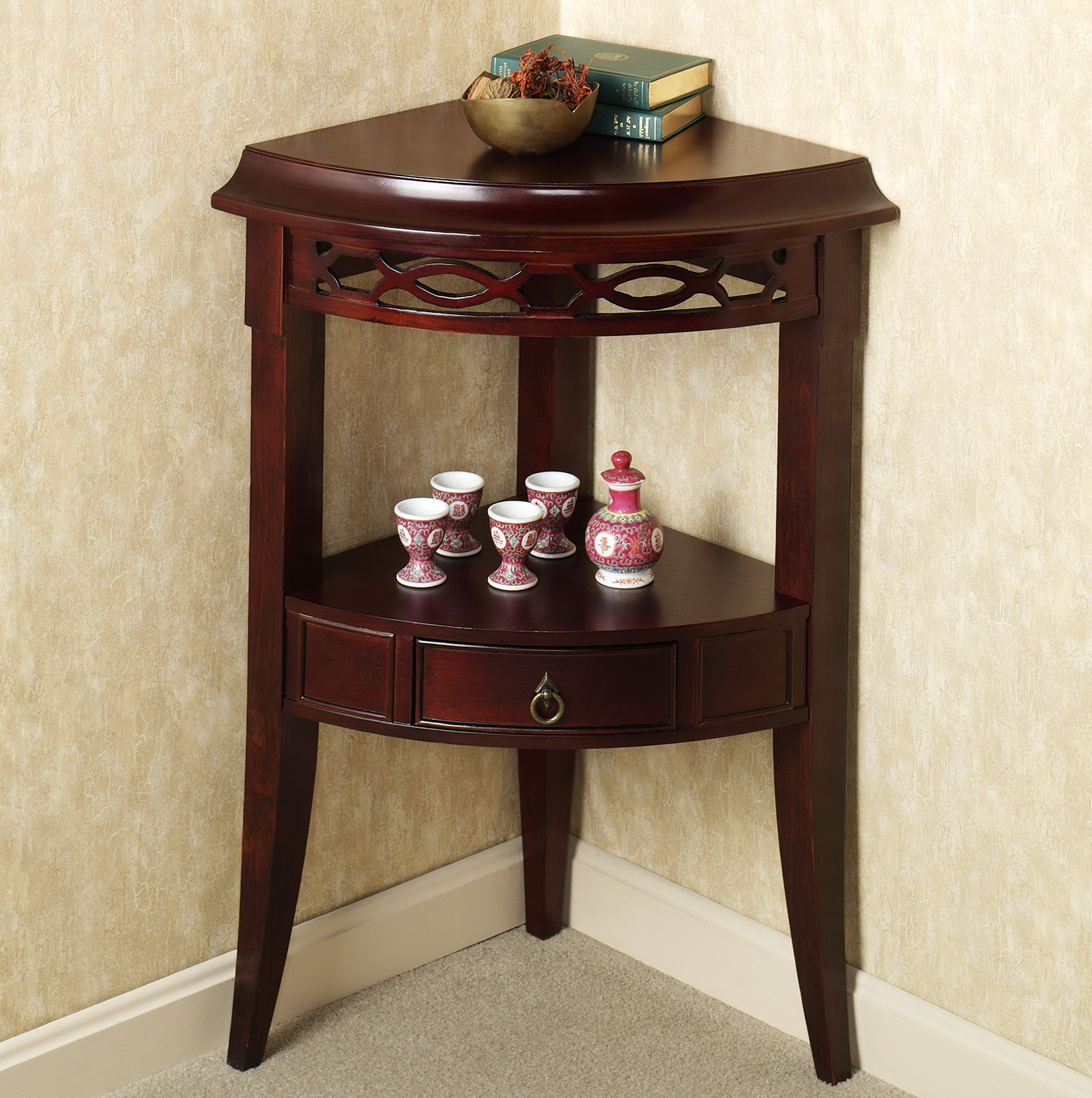 design small corner accent table with attractive bathroom tables long narrow legion furniture cupboard mirror cherry wood end painted crystal desk lamp pier one dining bench