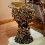 design toscano roses glass topped end table reviews unicorn accent outdoor side resin comfortable patio chairs round brass coffee large dining room bedroom target childs drum 150x150