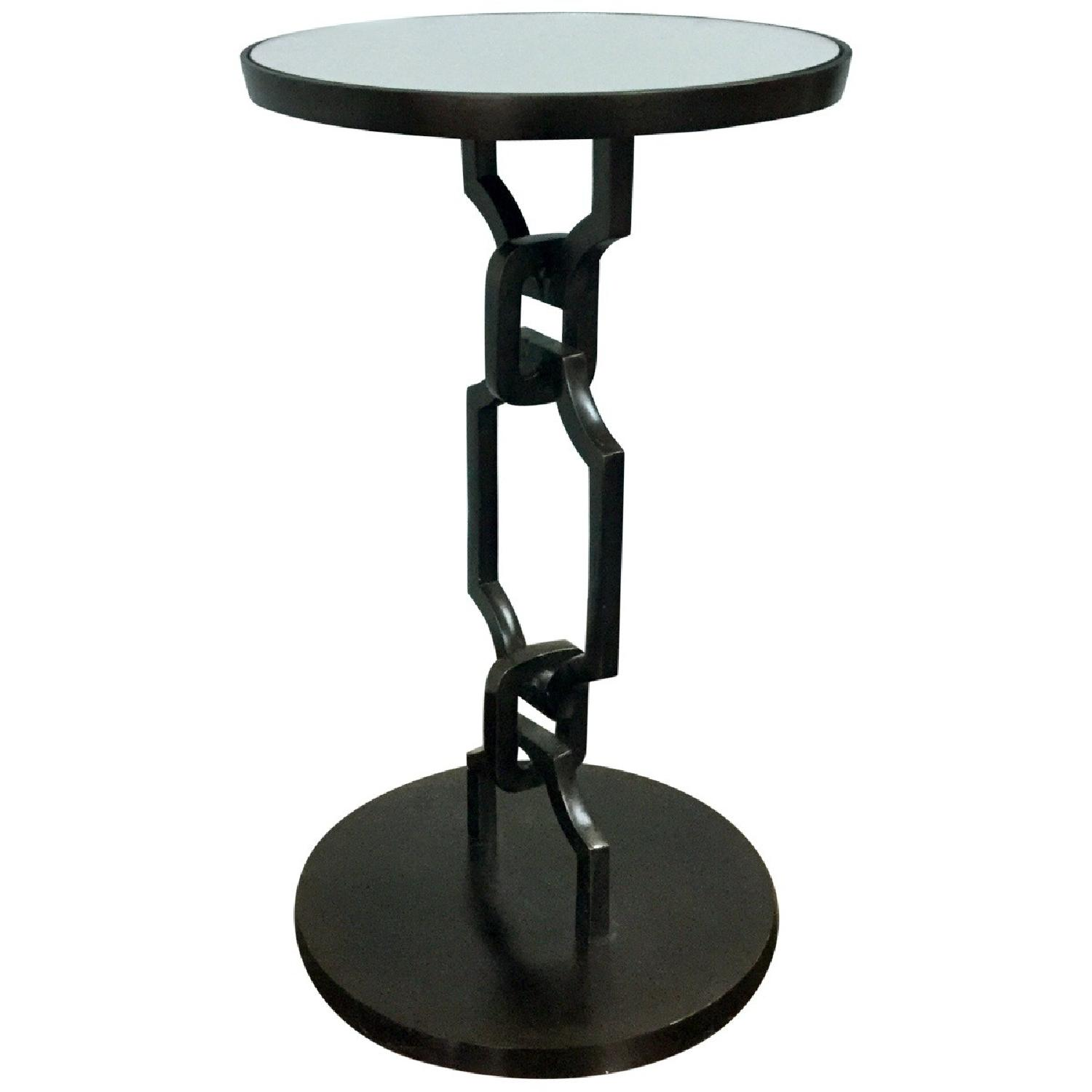 designe gallerie aluminium metal round black accent aptdeco frame table marble dining room ikea narrow end drawer pulls and knobs tables for small spaces antique oval side iron