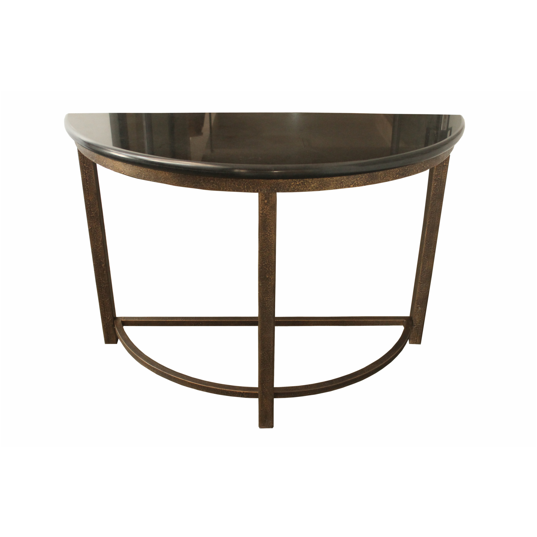 designe gallerie half round metal console accent table glass narrow circle coffee wood kitchen and chairs turquoise furniture small occasional side tables top end college dorm