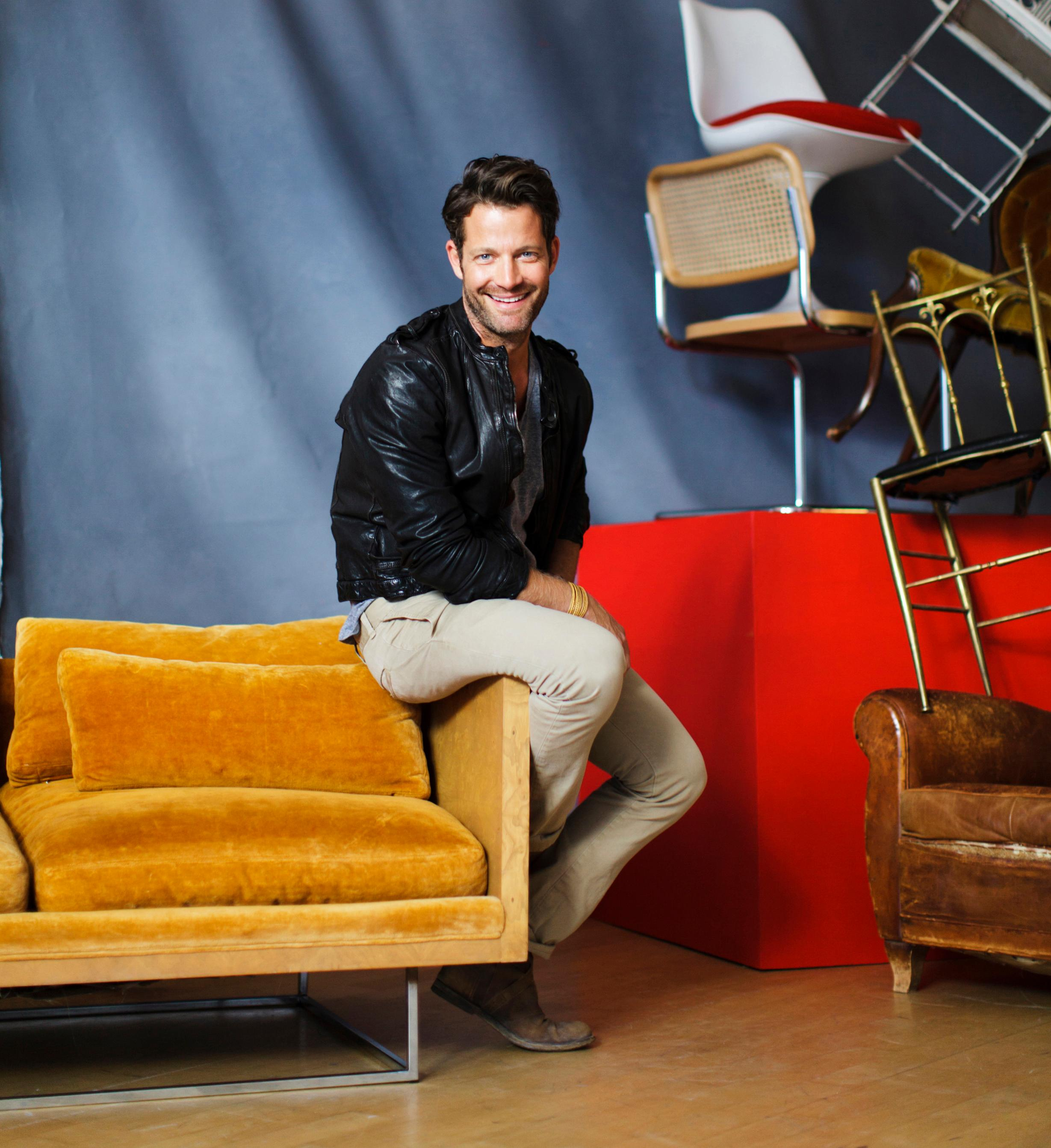 designer nate berkus his roots vintage style and target home headshot accent table diy wood end wicker garden furniture sets blue area rugs porch chairs dale tiffany stained glass