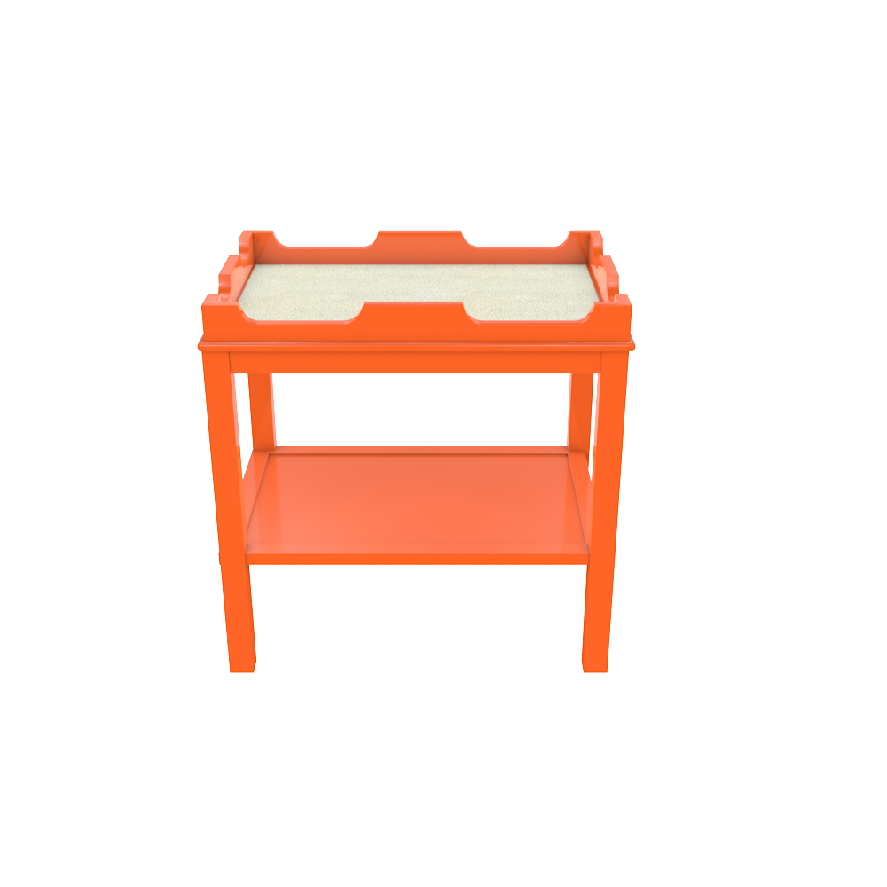 designer side tables accent nightstands custom fenwick knockout orange beach shagreen outdoor table short metal sun umbrellas for decks mini crystal lamp console setting ikea wood