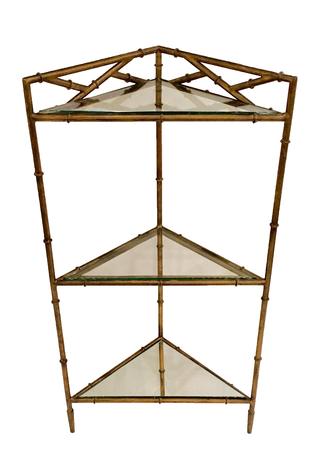 dessau home antique gold bamboo triangle three tier corner accent table oversized outdoor umbrellas dining arrangement dale crystal lamp oval coffee plans mirror box frame marble
