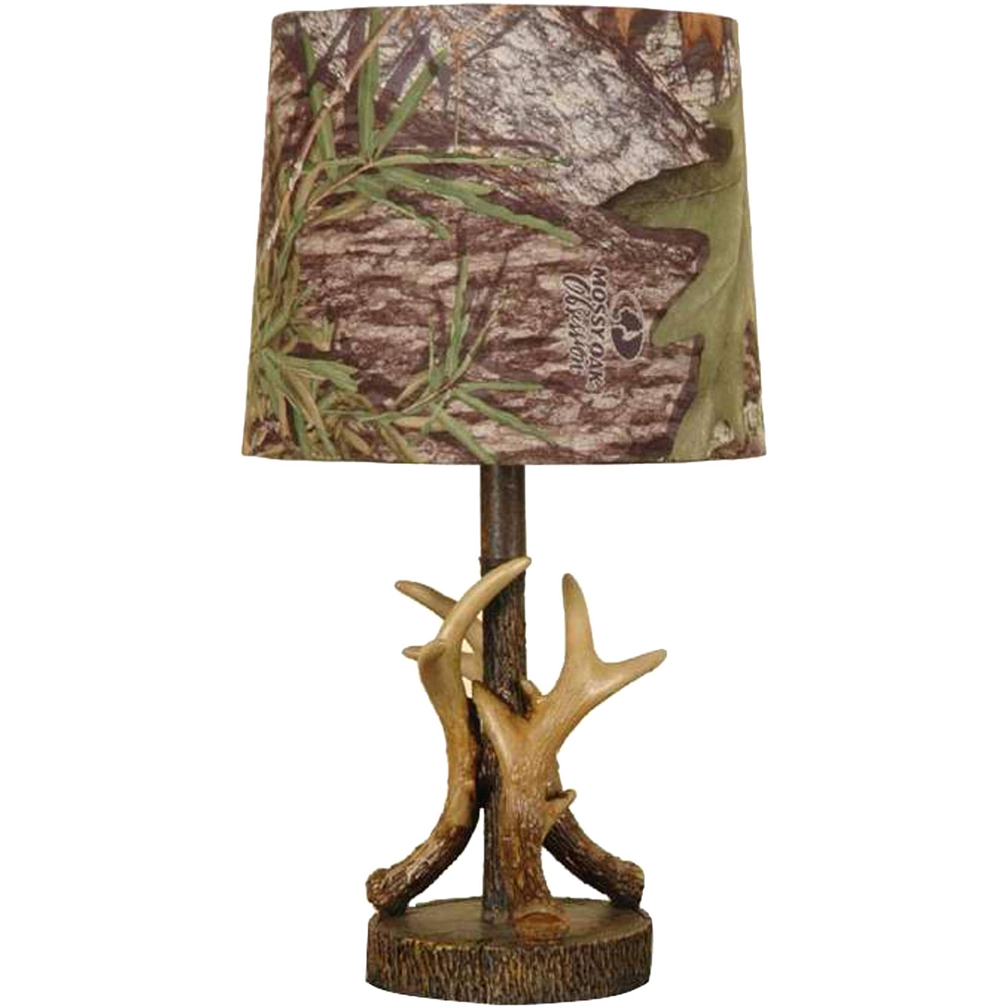 details about new mossy oak deer antler accent lamp home decor hunting living room man cave light tables furniture coffee skinny wall table design ideas black gold round glass