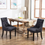 details about set curved shape linen fabric upholstered accent dining chair black furniture tufted dark grey nest tables marble top coffee table oval outdoor mirage mirrored 150x150