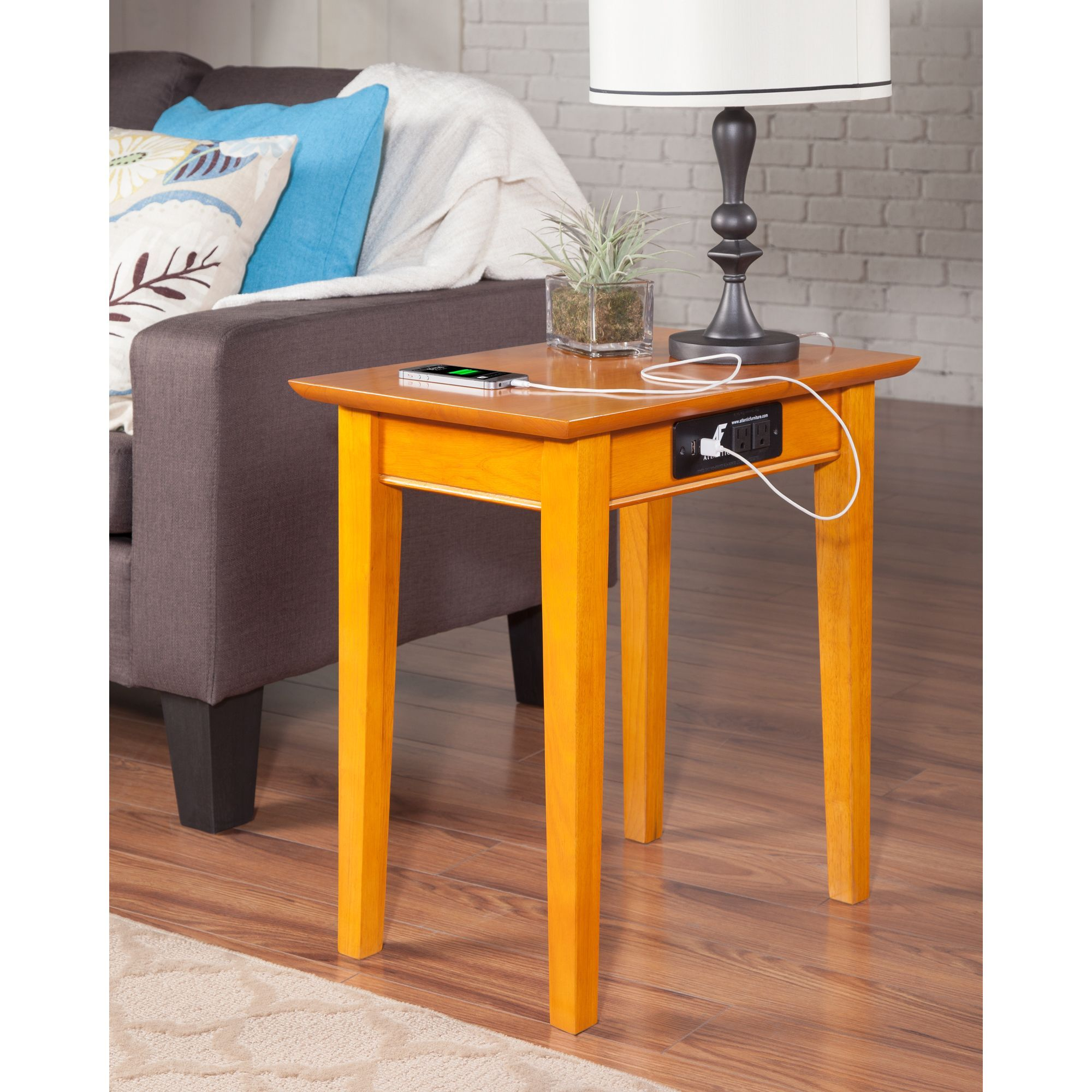 device charging end table for the home tables furniture accent with station oversized coffee half moon mirrored console glass contemporary round cloth gold mirror tiny spaces