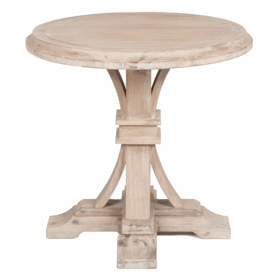 devon round accent table stone wash natural wood small desk with hutch saddle drum stool dining room patterned armchair nautical folding concrete top coffee big lots dresser