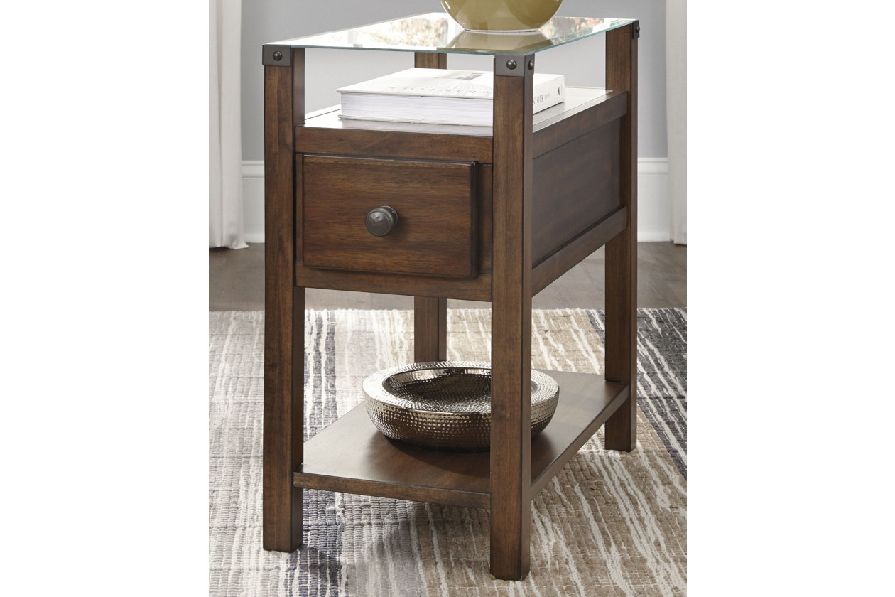 diamenton chairside end table with usb ports ashley crop power antique gold accent wood storage trunks chests unusual tables hot dog ume for dogs white cube bedside inflatable low